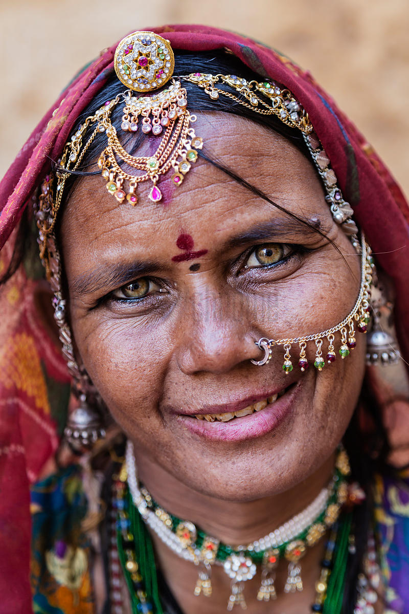 Portrait of a Woman Selling Bracelets