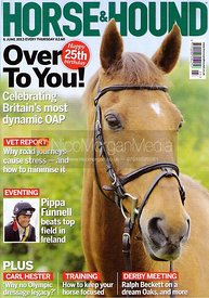 Over To You on the cover of Horse & Hound, June 2013