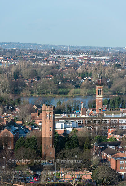 Perrott's Folly and Edgbaston Waterworks towers, Edgbaston, Birmingham