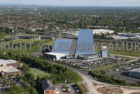 Manchester aerial view of the Chill Factore winter sports centre and Trafford Golfing centre Trafford Way Trafford Park