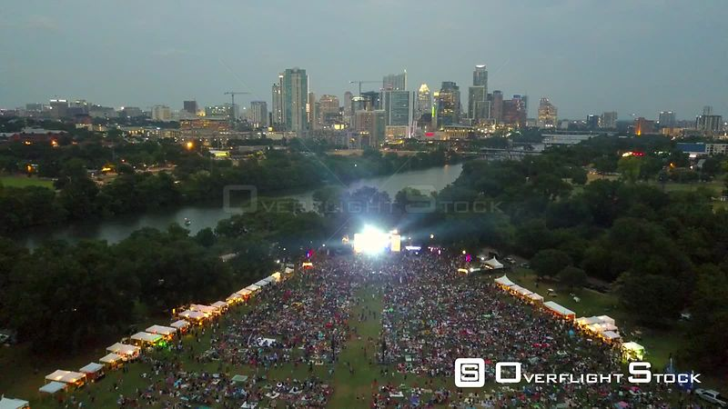 Blues on the Green Music Concert  at Zilker Park Austin Texas USA