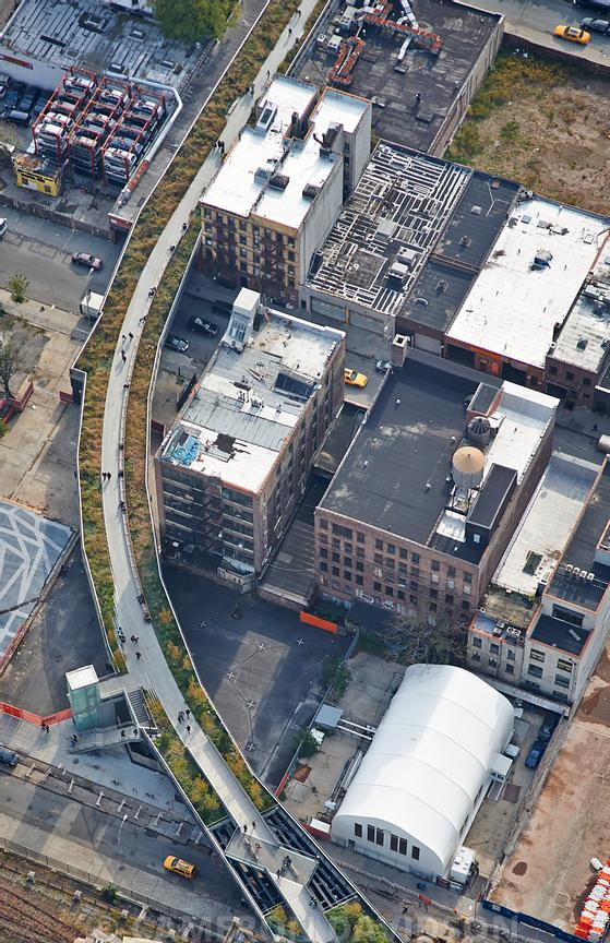 Aerial photo of the High-Line in Manhattan