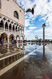 High tide at St Mark's square, Venice, Italy