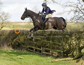 Phoebe Buckley jumping a hedge on Gordon-Watson's