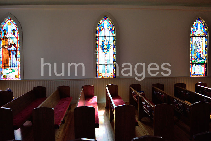 Interior of a rural Methodist church