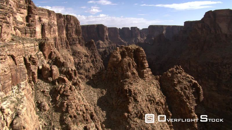 Flight approaching canyon wall in Arizona's Little Colorado River Gorge