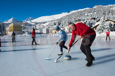 Stock Curling Engadin photos