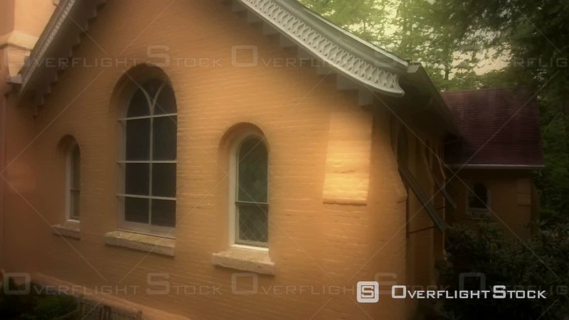 Old Historic Church In The Woods From the 1800's North Carolina