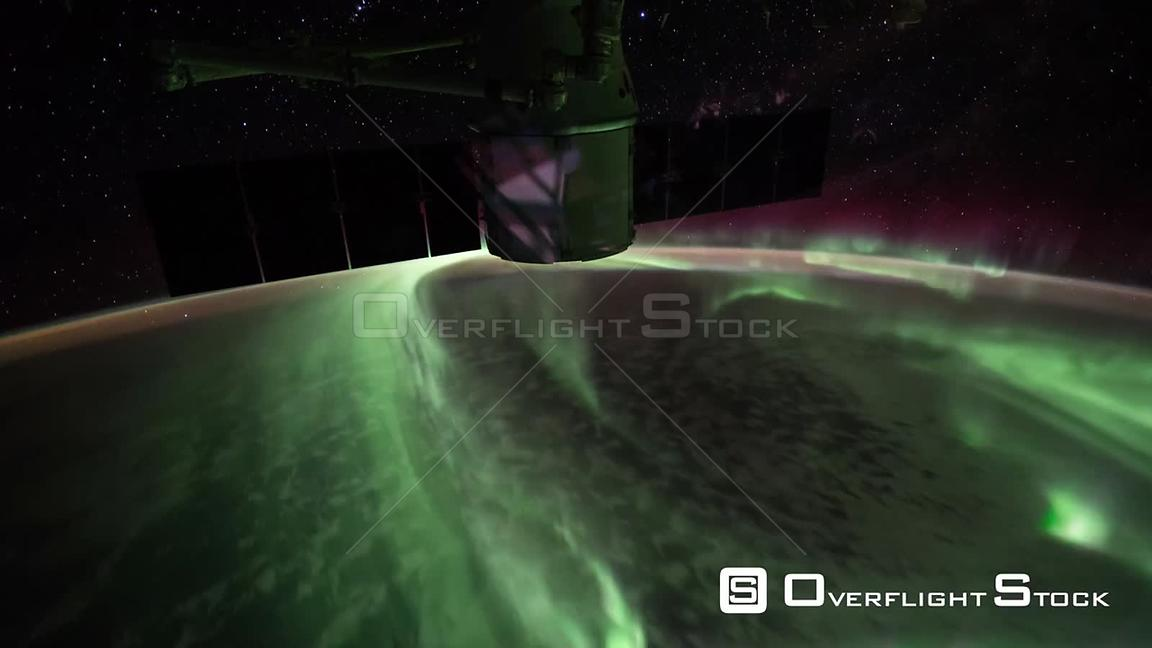 TimeLapse ISS Australia Aurora Australis 27 Sep 2017 from Space