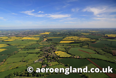 aerial photograph of the   Oxfordshire countryside around Horley  England UK