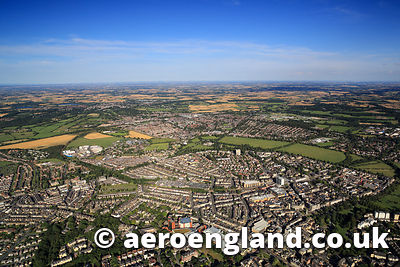 aerial photograph of Harrogate North Yorkshire  England UK