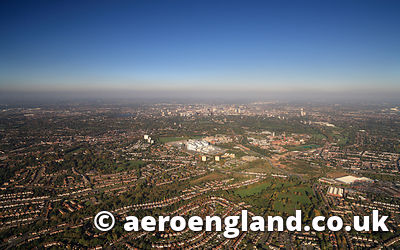 aerial photograph of Birmingham  West Midlands UK