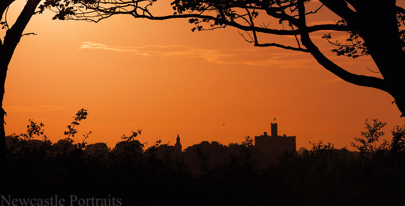 Warkworth Castle Sunset