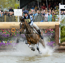 Sophie Jenman and GERONIMO - Cross Country phase, Mitsubishi Motors Badminton Horse Trials 2014