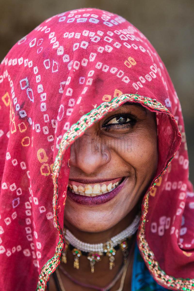 Portrait of a Rajasthani Woman
