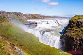Gullfoss waterfall in summertime, Iceland