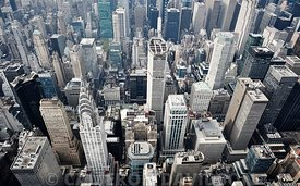 Aerial photograph of Midtown Manhattan