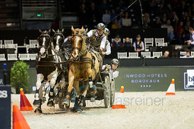 Bordeaux, France, 4.2.2018, Sport, Reitsport, Jumping International de Bordeaux - FEI WORLD CUP™ DRIVING FINAL - 2nd ROUND. Bild zeigt Koos DE RONDE (NED)...4/02/18, Bordeaux, France, Sport, Equestrian sport Jumping International de Bordeaux - FEI WORLD CUP™ DRIVING FINAL - 2nd ROUND. Image shows Koos DE RONDE (NED).