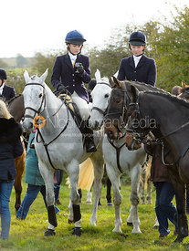 Hatty Coney, Harriet Rimmer at the meet at Long Clawson