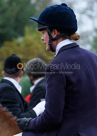 Willa Newton at the meet - The Cottesmore at Knossington 22/11