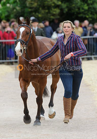 Sarah Stretton and SKIP ON - First Horse Inspection, Mitsubishi Motors Badminton Horse Trials 2014