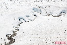 Detail of glacier, Gornergrat, Zermatt, Switzerland