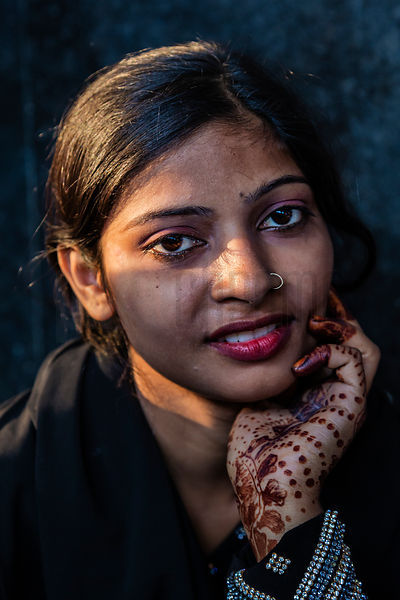 Portrait of a Woman on the Delhi Station Platform
