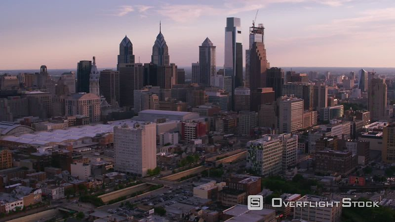 Philadelphia, Pennsylvania Aerial view of downtown Philadelphia.  Shot with Cineflex and RED EpicW Helium.