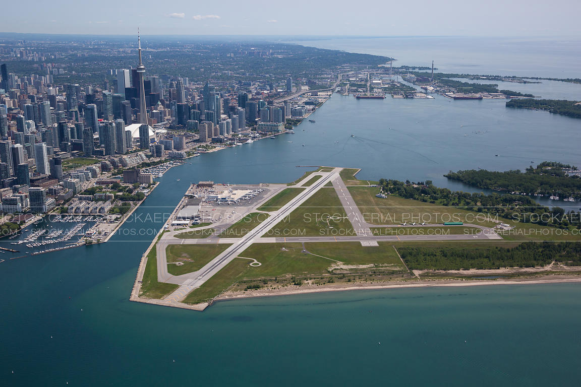 Aerial Photo Billy Bishop Toronto City Airport Cytz