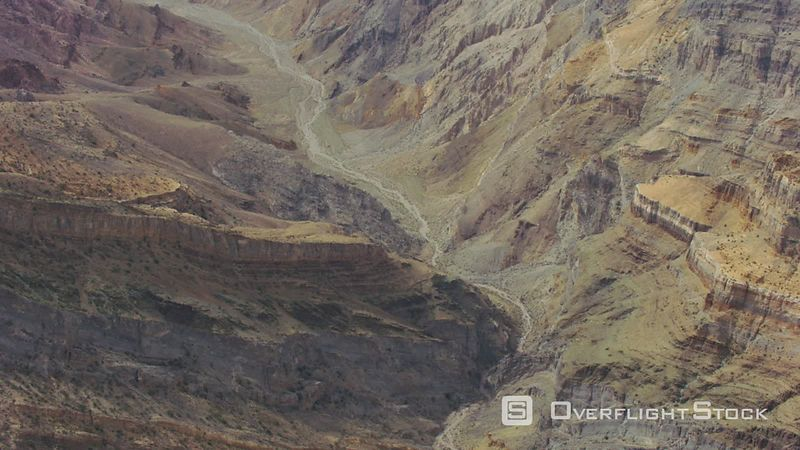 Aerial view of rocky desert landscape outside of Las Vegas, Nevada