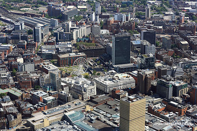 aerial photograph Central Manchester  England UK.