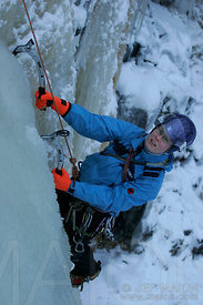 Female ice climber