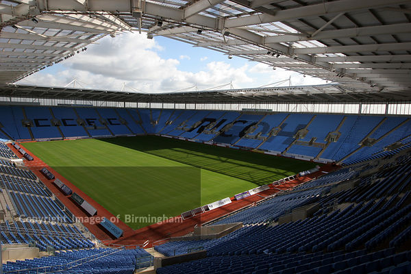 Coventry Ricoh Areana, home of Coventry City Football Club