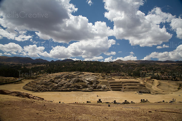 View of Old Ruins in Cusco Region, Peru