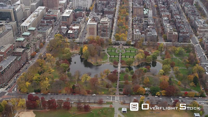 Over Public Garden, Boston. Shot in November