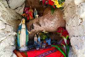 Shrine to Virgen de Puritama at Puritama thermal springs, Region II, Chile