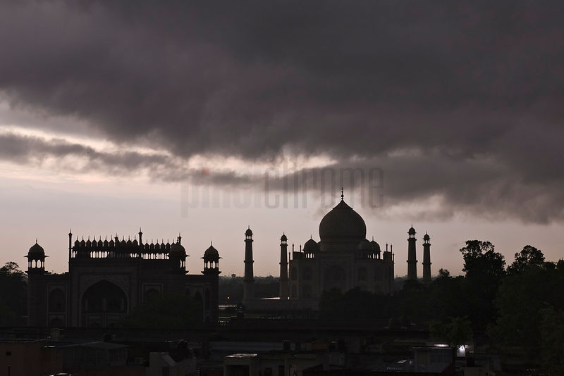 Storm over the Taj Mahal