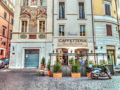 Cafeteria in Rome, Italy
