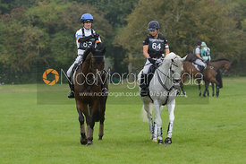 Francis Whittington (HASTY IMP) and Natalie Blundell (ALGEBRA) - cross country phase,  Land Rover Burghley Horse Trials, 6th September 2014.