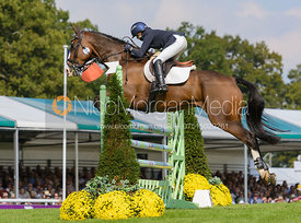 Louise Harwood and MR POTTS - show jumping phase, Burghley Horse Trials 2014.