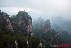 Scenic spot at Huangshan mountains, China