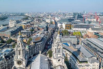 London Skyline From St. Paul's Cathedral (Horizontal)