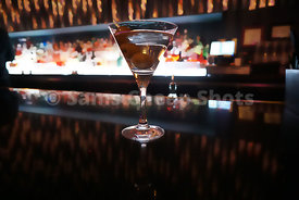 Martini on Bar with Three Olives
