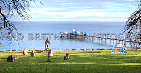 View Of Llandudno Pier From The Happy Valley Gardens