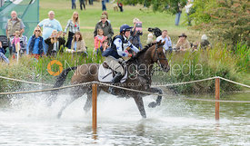 Sophie Jenman and GERONIMO - cross country phase,  Land Rover Burghley Horse Trials, 7th September 2013.