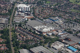 Stockport and Reddish aerial photograph of Greg Street and Banner house development site