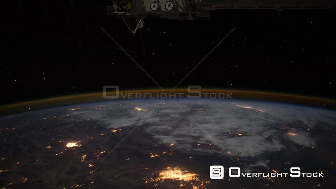 Time-Lapse from ISS over  Canada USA Aurora Borealis 07 Feb 2012