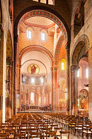 transept and choir of  Saint Austremoine abbey church, Issoire