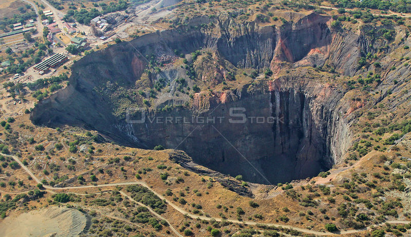 Aerial view of the Big Hole diamond mine at Kimberley, South Africa