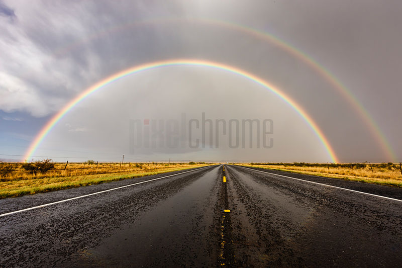 Rainbow on the Highway to Marathon